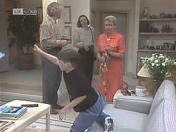 Jim Robinson, Nathan Starkey, Angela Starkey, Helen Daniels in Neighbours Episode 1843