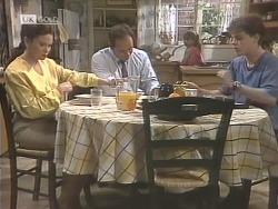 Julie Robinson, Philip Martin, Hannah Martin, Michael Martin in Neighbours Episode 1843