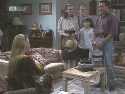 Phoebe Bright, Dorothy Burke, Tom Merrick, Toby Mangel, Stephen Gottlieb in Neighbours Episode 1843