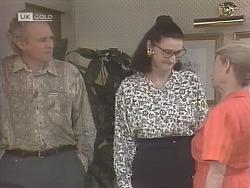 Jim Robinson, Dorothy Burke, Helen Daniels in Neighbours Episode 1843