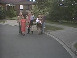 Jim Robinson, Helen Daniels, Hannah Martin, Cameron Hudson, Phoebe Bright, Stephen Gottlieb in Neighbours Episode 1843