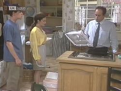 Michael Martin, Julie Robinson, Philip Martin in Neighbours Episode 1843