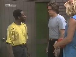 Eric, Cameron Hudson, Brad Willis in Neighbours Episode 1844