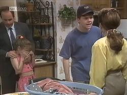 Philip Martin, Hannah Martin, Michael Martin, Julie Robinson in Neighbours Episode 1844