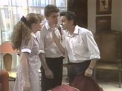 Debbie Martin, Michael Martin, Rick Alessi  in Neighbours Episode 1847