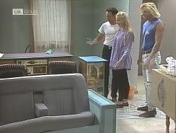 Stephen Gottlieb, Phoebe Bright, Brad Willis in Neighbours Episode 1848