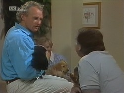 Jim Robinson, Cathy Alessi, Doug Willis in Neighbours Episode 1850