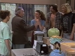 Pam Willis, Bert Willis, Gaby Willis, Cameron Hudson, Brad Willis in Neighbours Episode 1854