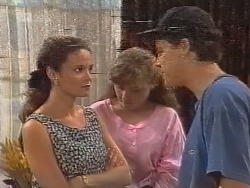 Julie Robinson, Debbie Martin, Michael Martin in Neighbours Episode 1856