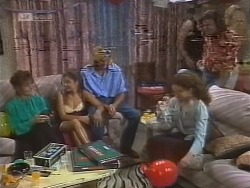 Pam Willis, Beth Brennan, Brad Willis, Gaby Willis, Wayne Duncan in Neighbours Episode 1856