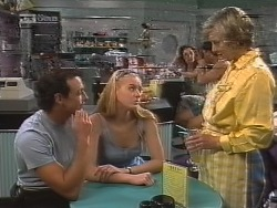 Stephen Gottlieb, Phoebe Bright, Cathy Alessi in Neighbours Episode 1857