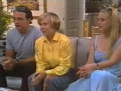 Stephen Gottlieb, Cathy Alessi, Phoebe Bright in Neighbours Episode 1857