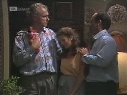 Jim Robinson, Julie Robinson, Philip Martin in Neighbours Episode 1858