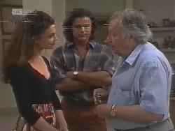 Gaby Willis, Wayne Duncan, Bert Willis in Neighbours Episode 1858
