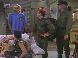 Brad Willis, Stephen Gottlieb, Benito Alessi, Jim Robinson in Neighbours Episode 1859