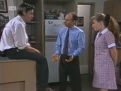 Rick Alessi, Benito Alessi, Debbie Martin in Neighbours Episode 1860
