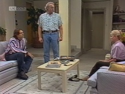 Cameron Hudson, Jim Robinson, Helen Daniels in Neighbours Episode 1861