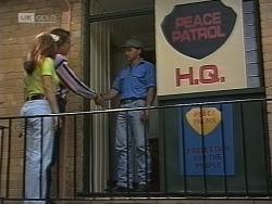 Cameron Hudson, Beth Brennan, Brian McDermott in Neighbours Episode 1862