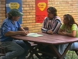 Brian McDermott, Cameron Hudson, Beth Brennan in Neighbours Episode 1862
