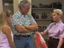 Lauren Carpenter, Jim Robinson, Helen Daniels in Neighbours Episode 1862