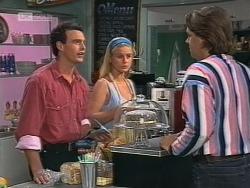 Stephen Gottlieb, Phoebe Bright, Cameron Hudson in Neighbours Episode 1862
