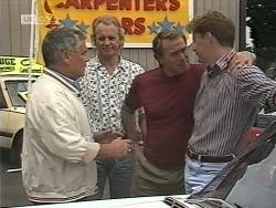 Lou Carpenter, Jim Robinson, Doug Willis, Davo in Neighbours Episode 1862
