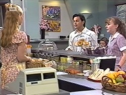 Phoebe Bright, Rick Alessi, Debbie Martin in Neighbours Episode 1863