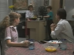 Debbie Martin, Pam Willis, Margaret Alessi, Rick Alessi in Neighbours Episode 1865