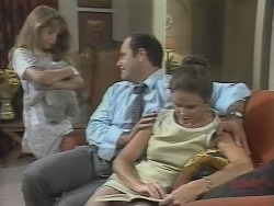 Hannah Martin, Philip Martin, Julie Robinson in Neighbours Episode 1865