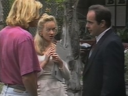 Brad Willis, Annalise Hartman, Philip Martin in Neighbours Episode 1865