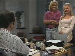 Philip Martin, Brad Willis, Annalise Hartman in Neighbours Episode 1865