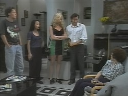 Mark, Karen, Annalise Hartman, Rick Alessi, Margaret Alessi in Neighbours Episode 1865