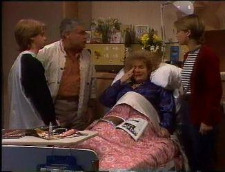 Brett Stark, Lou Carpenter, Cheryl Stark, Danni Stark in Neighbours Episode 2201
