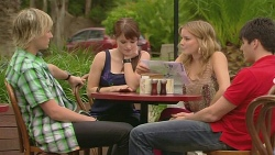Andrew Robinson, Summer Hoyland, Natasha Williams, Chris Pappas in Neighbours Episode 6346
