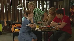 Summer Hoyland, Andrew Robinson, Natasha Williams, Chris Pappas in Neighbours Episode 6347