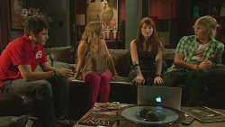 Chris Pappas, Natasha Williams, Summer Hoyland, Andrew Robinson in Neighbours Episode 6347