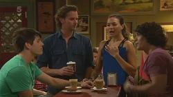 Chris Pappas, Lucas Fitzgerald, Jade Mitchell, Aidan Foster in Neighbours Episode 6349