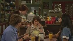 Callum Jones, Summer Hoyland, Sophie Ramsay, Rani Kapoor in Neighbours Episode 6349