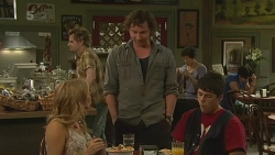 Natasha Williams, Lucas Fitzgerald, Chris Pappas in Neighbours Episode 6351