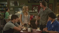 Chris Pappas, Natasha Williams, Lucas Fitzgerald, Aidan Foster in Neighbours Episode 6352