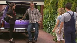 Emilia Jovanovic, Michael Williams, Natasha Williams, Chris Pappas in Neighbours Episode 6352