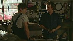 Chris Pappas, Lucas Fitzgerald in Neighbours Episode 6357