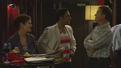 Susan Kennedy, Ajay Kapoor, Paul Robinson in Neighbours Episode 6376