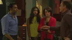 Ajay Kapoor, Rani Kapoor, Sophie Ramsay, Paul Robinson in Neighbours Episode 6377