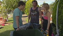 Chris Pappas, Lucas Fitzgerald, Natasha Williams in Neighbours Episode 6377