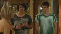 Natasha Williams, Aidan Foster, Chris Pappas in Neighbours Episode 6377