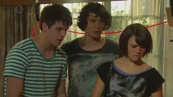 Chris Pappas, Aidan Foster, Sophie Ramsay in Neighbours Episode 6377
