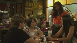 Callum Jones, Sophie Ramsay, Priya Kapoor, Rani Kapoor in Neighbours Episode 6381