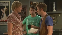 Andrew Robinson, Chris Pappas, Griffin O'Donahue in Neighbours Episode 6392