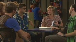 Griffin O'Donahue, Red Cotton, Andrew Robinson in Neighbours Episode 6392
